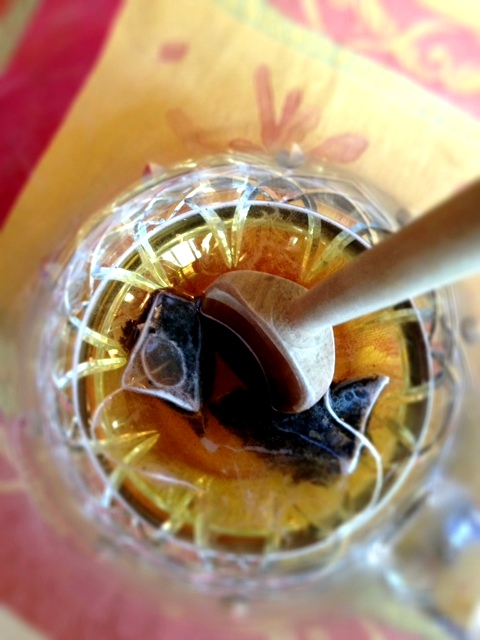 overhead tea shot