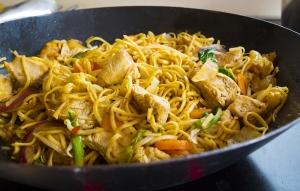mushroom, chicken, or turkey and vegetable stir fry with fresh v